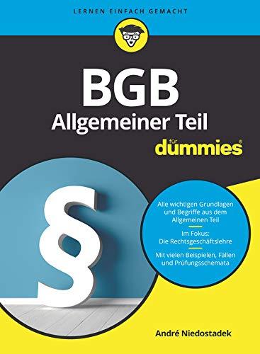 BGB Allgemeiner Teil für Dummies