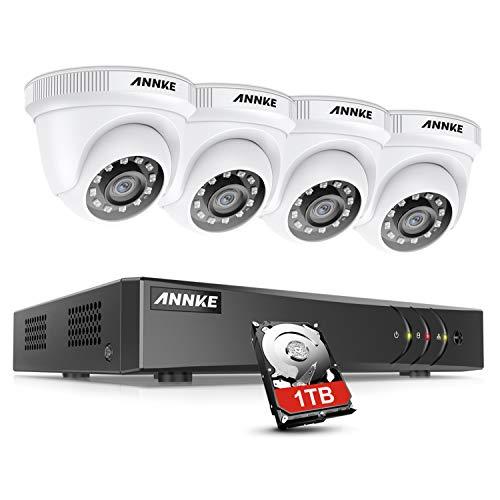 ANNKE Kit de Seguridad 8CH 5MP Lite DVR con 1TB Disco Duro d