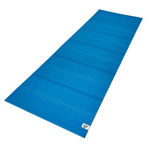 Reebok Folded Yoga Mat, Blue/Black, 6mm