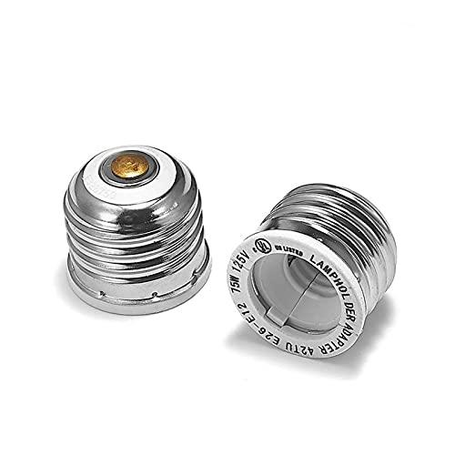 Soporte de lámpara 2 unids E26 a E12 Adaptador de enchufe de enchufe de la lámpara de la lámpara de la lámpara de la base de la base de la araña del zócalo LED de la lámpara Reducir el extensor