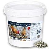 Chick'N Deluxe® CALCIUM BOOSTER 4Kg. Complément alimentaire pour volailles. Produit minéral naturel riche en calcium, stimule la ponte, renforce la coquille d'œuf et utilisable en Agriculture Bio.