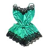 XinFeng Sexy Split Pyjama Set Sexy Lace Sling Nuevo Conjunto De Dos Piezas 绿色 S