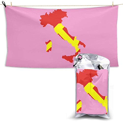 XCNGG Quick Dry Bath Towel, Absorbent Soft Beach Towels, Italy Flag Map for Camping, Backpacking, Gym, Travelling, Swimming,Yoga 28.7'' X 51''