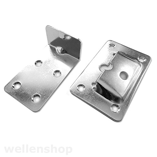 wellenshop Wandhalterung Tischwinkel Tischhalterung Regalträger Edelstahl Tischfuß Tischbein Tischplattenhalter