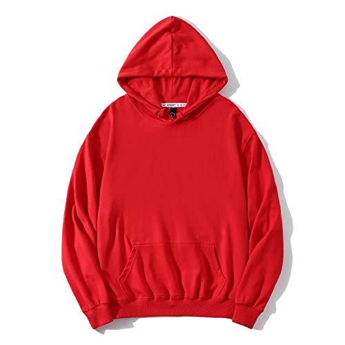 YUESJX Herren-Sweatshirt mit Kapuze, verdickt, Werbung, Arbeitskleidung, Kultur Bedruckt, Sweatshirt, personalisierbar Gr. XL, rot