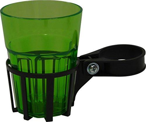 Angerer Getränkehalter für Hollywoodschaukel eisengrau, inkl. Becher grün, 970/01