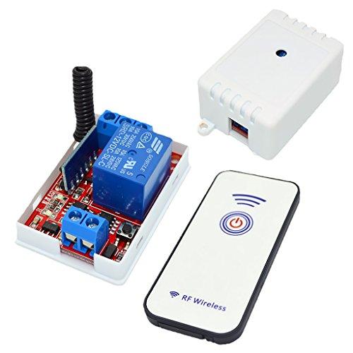 gazechimp Interruptor de Control Remoto RF de 1 Canal 433M 1 Botón de 12V + Módulo Receptor