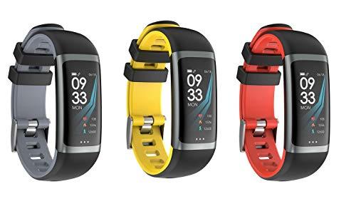 MMTEK-Street Workout II Pulsera Actividad con Pulsómetro Mujer Hombre, Monitor de Actividad Deportiva, Ritmo Cardíaco, Impermeable IP67, Reloj Fitness, smartwatch con Podómetro (Azul)