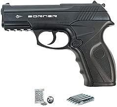 Borner C11 | Pack Pistola de balines (perdigones Bolas de Acero BB's). Arma de Aire comprimido CO2 Calibre 4,5mm <3,5J