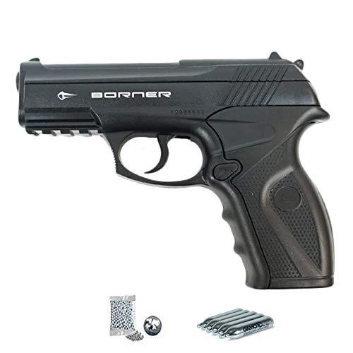 Borner C11   Pack Pistola de balines (perdigones Bolas de Acero BB's). Arma de Aire...