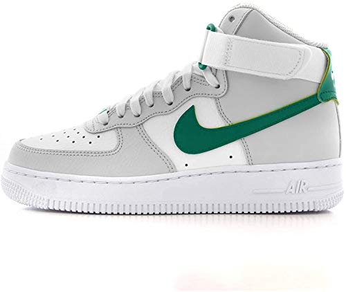 Nike Damen WMNS Air Force 1 High Basketballschuh, Grey Fog Neptune Green Summit White White, 37.5 EU