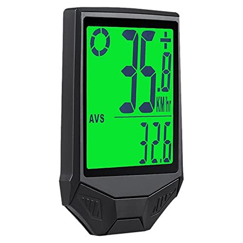 Uniqal Ordenador de bicicleta, pantalla grande, impermeable, multifunción, Cronómetro, cuentakilómetros con pantalla LCD B