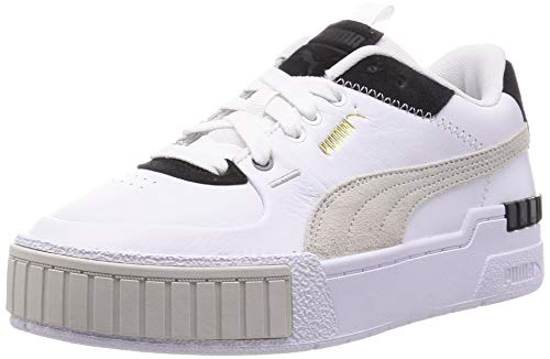 Puma Damen CALI Sport Mix WN S Sneaker, White Black, 21 EU
