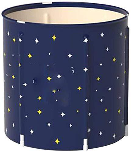 YQDSY Portátil Bañera Bañera Plegable Barril Adulto Bañera Espesada Barril Portátil Barril Hogar Barril Fácil de Instalar Easy Storage Portátil/Azul oscuro/Los 70X70CM
