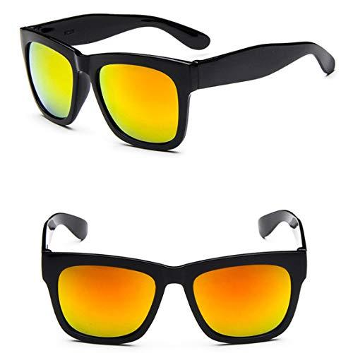 Pgige 8235 Nuevas gafas de sol deportivas de moda Gafas de sol cuadradas de película de color Personalidad Espejo de color Diseño de marca de lujo