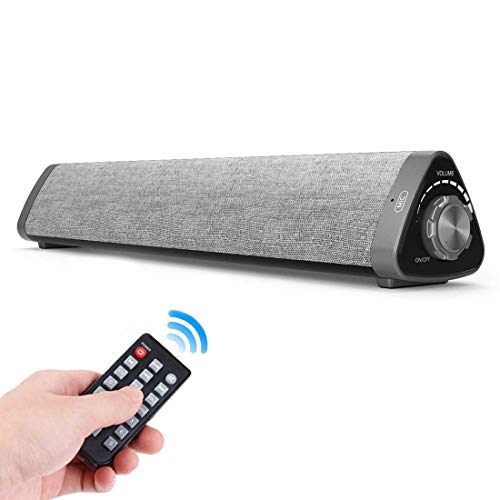 Sound Bar, ASIYUN Wired and Wireless Bluetooth 5.0 Audio Speaker Surround Sound Home Theater Built-in Subwoofers for TV/PC/Phones/Tablets with Remote Control (Support Device with AUX/RCA/USB Function)