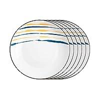 料理デザートプレートクリエイティブディナープレートセット2/4/6ピースキッチンディナーウェアセットラウンドセラミックディナープレート-電子レンジ、オーブン、食器洗い機で安全な前菜サラダプレート