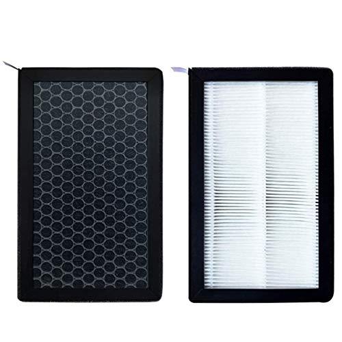 for Tesla Model 3 Luftfilter HEPA 2-Pack mit Aktivkohle Klimaanlage Ersatzkabinenluft-Filter