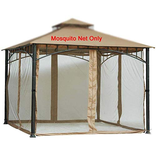 Replacement Mosquito Netting Screen Walls for Gazebo Size 10 Ft X 10 Ft (Gazebo Mosquito Net Only)