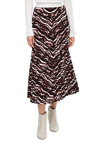 s.Oliver BLACK LABEL Damen 150.10.009.19.190.2043057 Rock, Cream Batik Stripes, 36