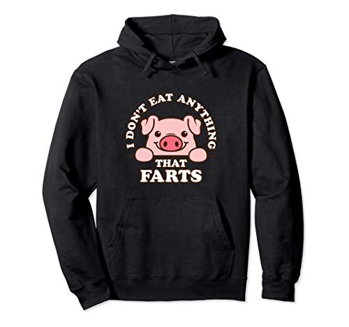 Divertido Cerdo Lindo No Como Nada Que Se Pierda Veganismo Sudadera con Capucha