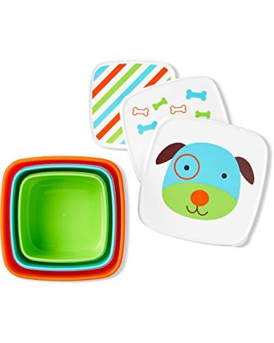 Skip Hop - Caja de almacenamiento de alimentos para bebés, Juego de botanas, Dog
