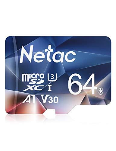 Netac 64G Scheda Micro SD, Scheda di Memoria A1, U3, C10, V30, 4K, 667X, UHS-I velocità Fino a 100/30 MB/Sec(R/W) Micro SD Card per Telefono, Videocamera, Switch, Gopro, Tablet