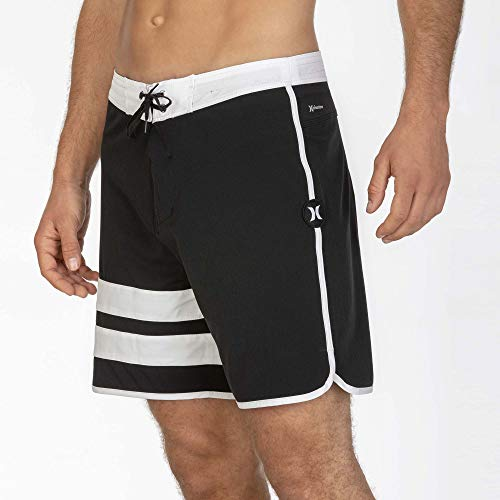 Hurley Herren Badehose M Phantom Block Party 18', Light Carbon, 32, CJ5090