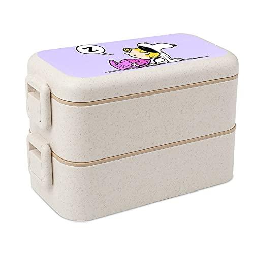 Snoopy - Cajas apilables para almacenamiento de alimentos portátiles, almuerzos escolares y para adultos y niños, seguridad y salud