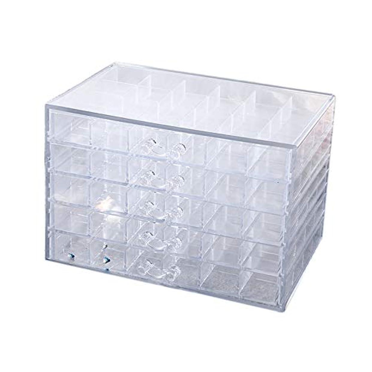 うれしい問い合わせ余計なTOOGOO 100グリッド プラスチック空のネイルアート収納ボックスツール ジュエリーラインストーンビーズネイルポリッシュコンテナオーガナイザープル可能ケース