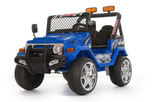 Jeep Elettrica 2 posti stile 4x4 blu