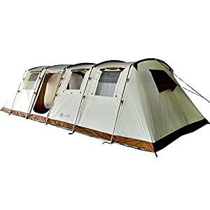 Skandika Breathable Casablanca Unisex Outdoor Tunnel Tent available in Sand - 12 Persons