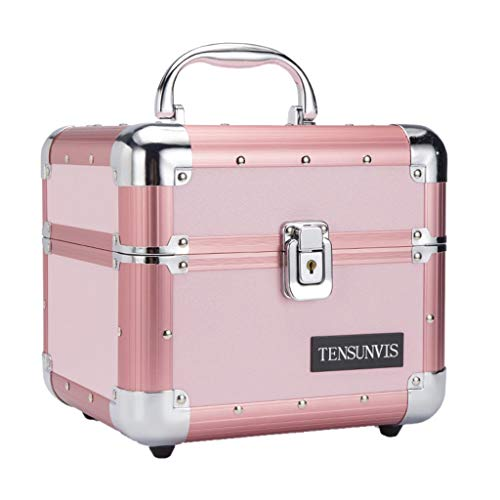 Beauty case Ali@ Étui à cosmétiques portatif Rose, Version coréenne, boîte de Rangement pour Bijoux, boîte de Rangement pour cosmétiques