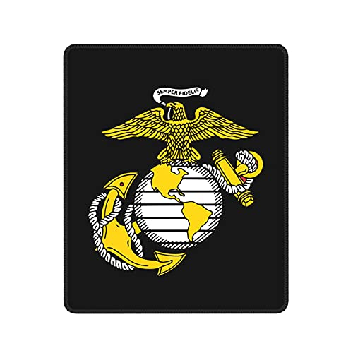 USMC Marine Corps Anchor Mouse Pad - Non-Slip Mousepad Rubber Gaming Mouse Pads Anime Mouse Pad Home Office Computer Gaming Mousepad Mat
