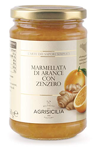 Agrisicilia Srl Marmellata di Arance con Zenzero, 360 gr