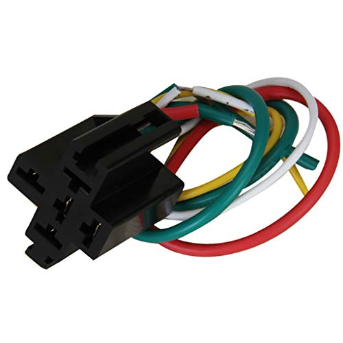 Joyfulstore- 5-Pin Pre-Wired Relay Socket Base For Using With Dc 12V Five Terminal Relays