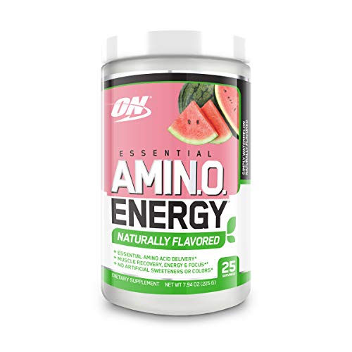 Optimum Nutrition Amino Energy Naturally Flavored - Pre Workout with Green Tea, BCAA, Amino Acids, Keto Friendly, Green Coffee Extract, Energy Powder - Simply Watermelon, 25 Servings