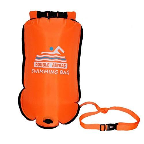 Aiyrchin Flotar portátil de Doble Bolsa en seco natación Inflable de Seguridad Bolsa de Aire para la natación de Deportes acuáticos de Naranja