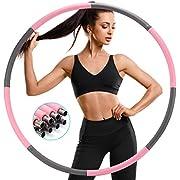 SAWAKE Hula Reifen Fitness Erwachsene Hoop zur Gewichtsreduktion aus Edelstahl, Hula Reifen,Hoop 1,2 kg mit Eva Schaumstoff und Bandmaß, Abnehmbarer Hula Fitnessreifen für Fitness/Sport/Zuhause/Büro