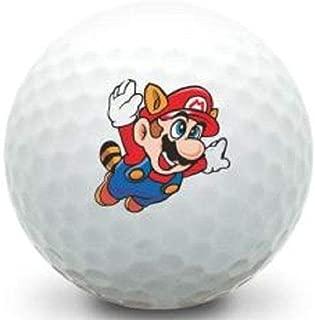 Golf Ball Kings Unique Printed Golf Balls - Mario Logo Golf Balls (3-Pack)