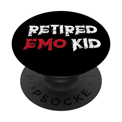 Emo Retirado Emo Kid Gótico Oculto Retired Emo Kid Goth PopSockets PopGrip: Agarre intercambiable para Teléfonos y Tabletas