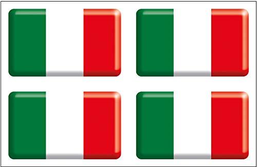 Artimagen Pegatina Bandera rectángulo Italia 4 uds. Resina 30x18 mm/ud.