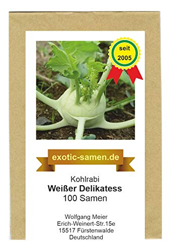 Kohlrabi - Weißer Delikatess - 100 Samen