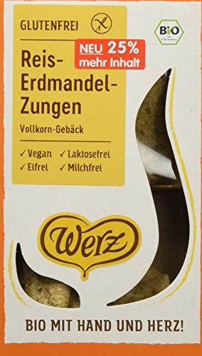 Werz Reis-Erdmandel-Zungen, Vollkorn-Gebäck, glfr, 2er pack (2 x 125g)