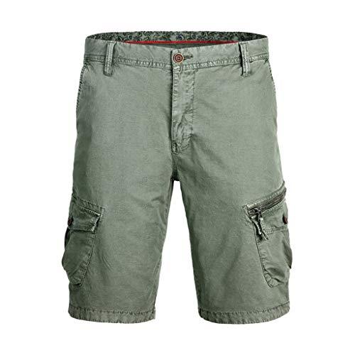 2019 Herren Cargo Shorts, Kurze Hose Männer Jogginghose Arbeitshose Mode Beiläufig Baumwolle Tasche Solide Outdoors Kurz Hosen, Kurze Latzhose...