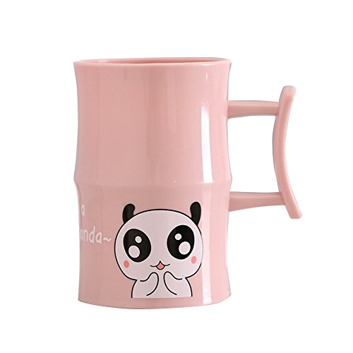 angel3292 Clearance Deals!!Lovely Cartoon Panda Printed Plastic Drink Toothbrush Cup Couple Wash Gargle