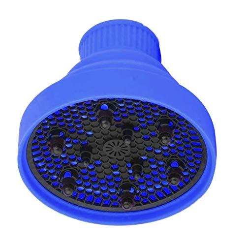 Bonarty Cobertura universal dobrável para secador de cabelo cacheado lavável para bocal φ4-5 cm - azul