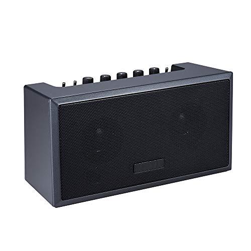 ZJH Amplificador de Guitarra portátil, Recargable Mini Bluetooth Amp Altavoz acústico para...