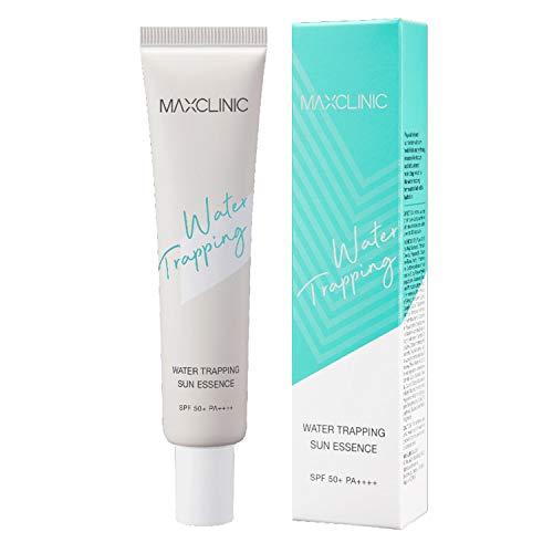 MAXCLINIC Water Trapping Sun Essence 100% physikalischer Sonnenschutz LSF 50 für feuchtigkeitsspendende Sonnenmilch im Gesicht, nicht klebrig, kein Weißguss 40ml / 1,41 oz