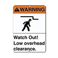 アルミメタルノベルティ危険サイン警告ウォッチアウトローオーバーヘッド、メタルサインレトロティンメタルサインプラークメタルヴィンテージカフェハウスホームストアの装飾用